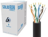 SolidRun by Sewell Cat5e Bulk Cable 1000 ft. Blac
