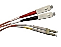 SC-LC Multimode Duplex Fiber Optic Patch Cable (6