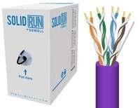 SolidRun by Sewell Bulk Cat6 Cable 1000 ft. Purpl