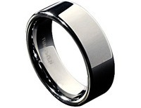 Villon Flat Tungsten Wedding Band Size 12