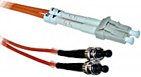ST-LC Multimode Duplex Fiber Optic Patch Cable (6