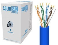 SolidRun by Sewell Cat5e Bulk Cable 1000 ft. Blue