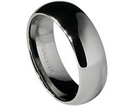 Merovech Classic Tungsten Wedding Band Plain Dome