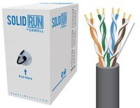 SolidRun by Sewell Bulk Cat5e Cable 1000 ft Dark