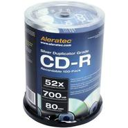 Silver Duplicator Grade 52x CD-R Recordable 100-Pa
