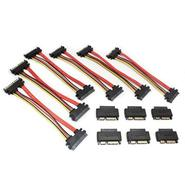 MicroSATA to SATA Adapter Cable Bundle, 6 Pack
