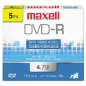 DISC,DVD-R,16X,4.7GB,5/PK