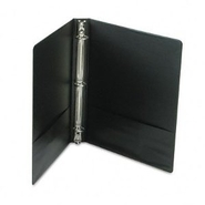 Suede Finish Vinyl Round Ring Binder, 1  Capacity,