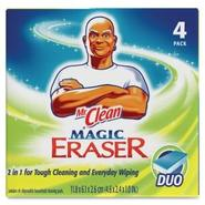 Mr. Clean Magic Eraser Foam Pad, 3 x 3, White, 4/B
