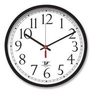 Selfset Clock, 16-1/2  D, Black/White