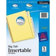 WorkSaver Big Tab Insertable Dividers 11110, 5-Tab