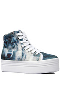 Women's The HIYA Sneaker in Wolf Print, Sneakers
