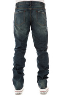 Men's The RVCA Regulars Extra Jeans in Faded Blue,