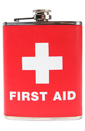 Unisex's The First Aid Drinking Flask (7 fl. Oz.),