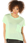 Women's The Holly Tee in Kiwi Green, T-shirts
