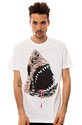 Men's The Shark Drip Tee in White, T-shirts