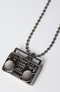 Men&#39;s The Boombox Necklace in Gunmetal, Jewelry