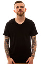 Men's The 3-Pack V-Neck Tees in True Black, Basic
