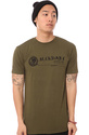 Men&#39;s The Wolfgauge Tee in Olive, T-shirts