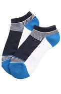Men's The Down From Earth No Show Socks in Navy, S
