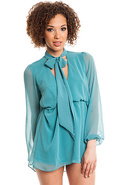 Women&#39;s The St. Croix Tunic in Turquoise, Dresses
