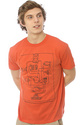 Men&#39;s The Wired Up Tee in Paprika, T-shirts