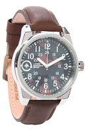 Men's The Field & Research Watch in Silver & Army,