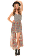 Women's The Abbey Skirt in Paisley, Skirts