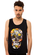 Men's The Printed Tank in London Blue, Tank Tops