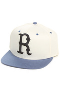 Men's The Brooklyn R Snapback in White, Hats