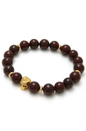 Men's The Mr. Dead Serious Bracelet in Maroon, Jew