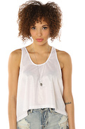 Women's The Frankie Shiny Tank in White, Tops (Sle