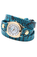 Women's The Odessey Snake Wrap Watch in Aqua, Watc