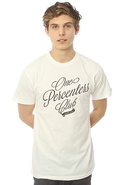 Men's The One Percenters Club Tee in White, T-shir