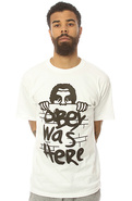 Men's The Obey Was Here Tee in White, T-shirts