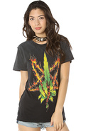 Women's The Burn Weed Tee, T-shirts