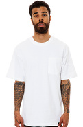 Men&#39;s The Basic Short Sleeve Pocket Tee in White, 