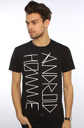 Men's The Script Logo Tee in Black, T-shirts