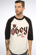 Men's The Bar King Raglan in White & Black, T-shir