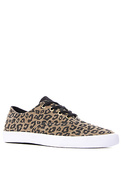 Women's The Wrap Sneaker in Cheetah Print Canvas,