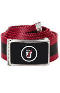 Men&#39;s The Gothic U Belt in Black &amp; Red, Belts