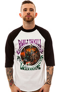 Men&#39;s The Hell Rider Raglan in White &amp; Black, Tops