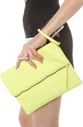 Women's The Python Clutch in Sunny Lime, Bags (Han