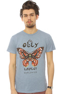 Men's The Obey Effect Slub Tee in Mineral Blue, T-
