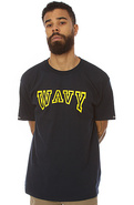 Men's The Wavy Tee in Dark Navy, T-shirts