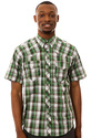 Men&#39;s The Santa Fe S/S Snap-Up in Green, Buttondow