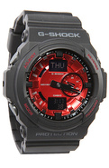 Men's The GA 150 Watch in Black & Red, Watches