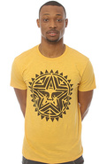 Men's The Aztec Stencil Slub Tee in Honey Gold, T-