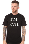 Men&#39;s The Evil E Tee in Black, T-shirts