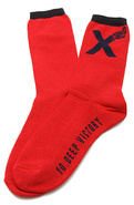 Men&#39;s The Victory Socks in Red, Socks